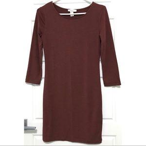 F21 Chocolate Brown Bodycon Dress